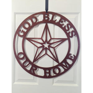 THE ESTHER: God Bless Our Home Sign with Texas Star