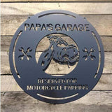Personalized Garage Motorcycle Sign