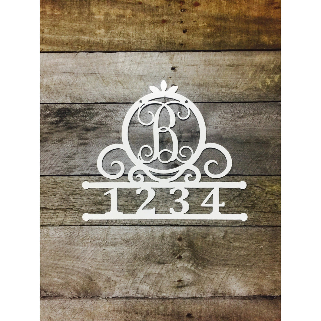 Monogram Mailbox Address Sign