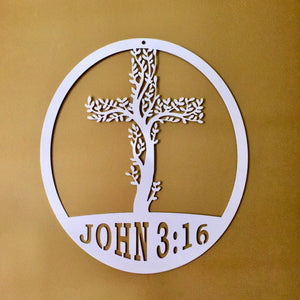 THE LIVING TREE: Cross Tree of Life w/ John 3:16