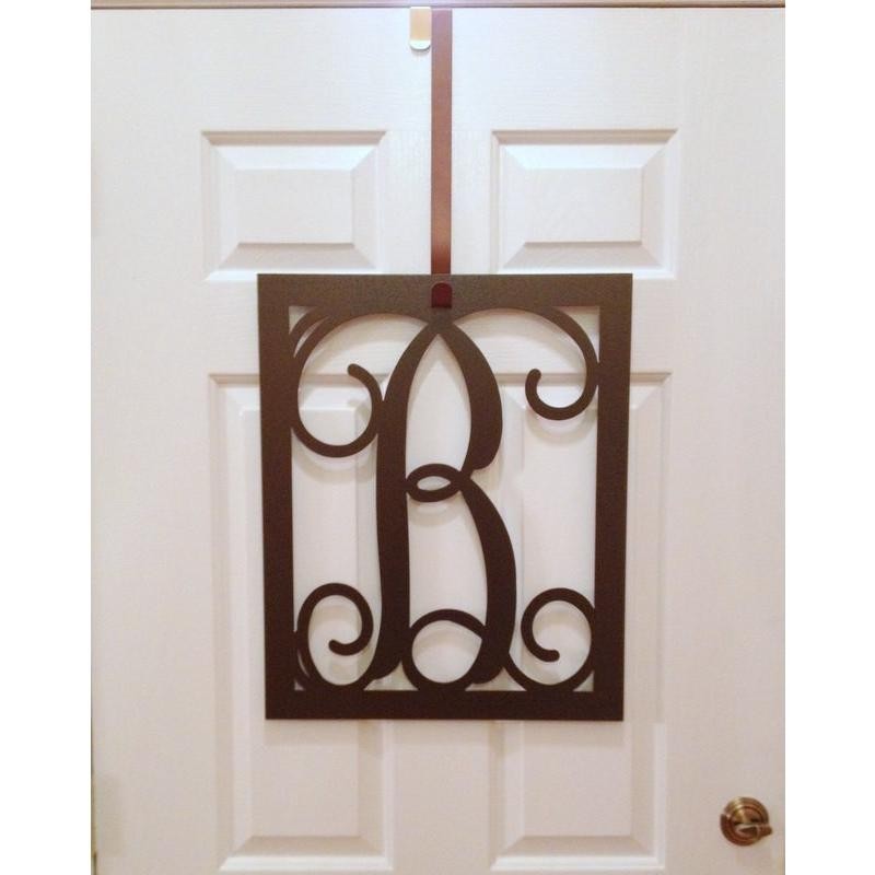 Rectangular Vine Monogram Door Wreath