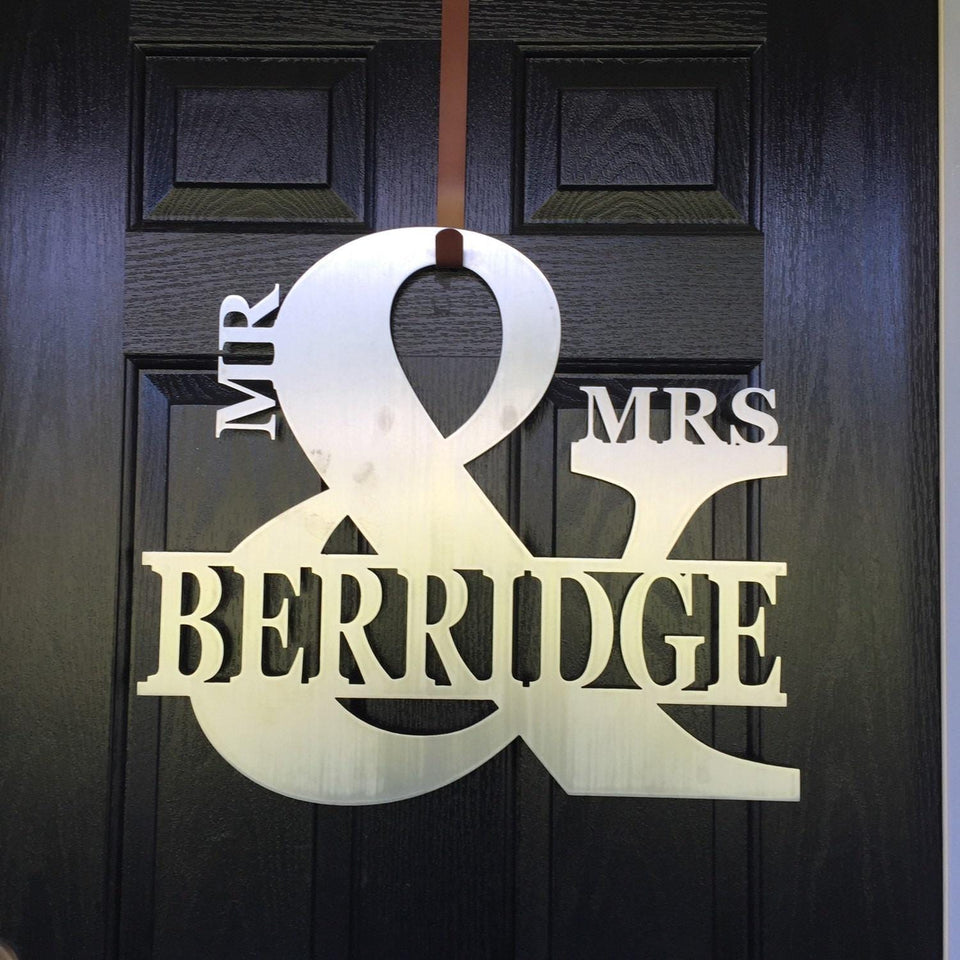 Mr and Mrs Monogram Decor