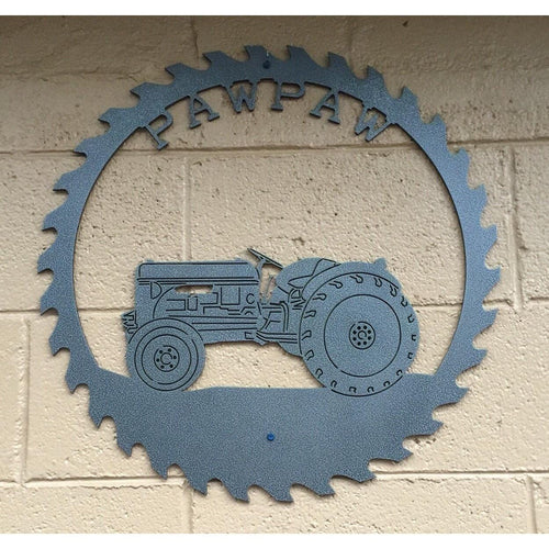Sawblade Tractor Sign