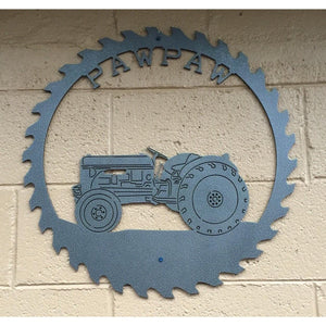 Saw blade Tractor Sign