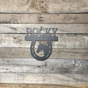 Personalized Horse Stall Sign |  Horse Stall Nameplate | Metal Sign
