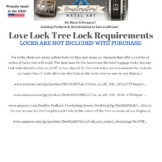 Personalized Name Love Lock Tree