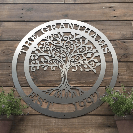 """Loving"" Tree of Life Family Established Sign"