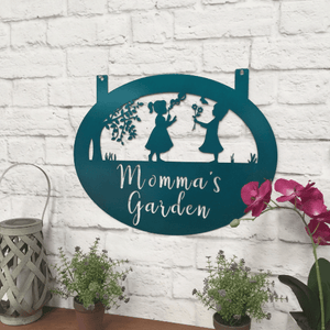 Personalized Children Playing Garden Sign