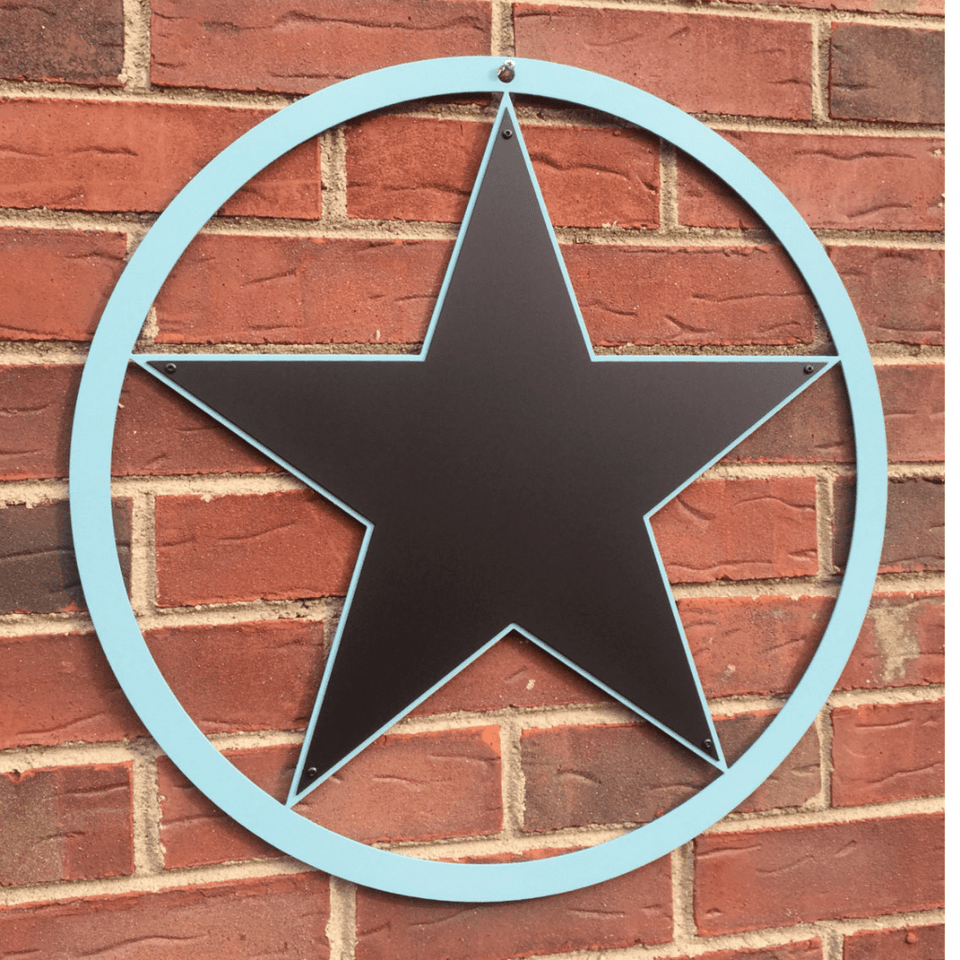 5 Point Metal Texas Star- Two Color Design