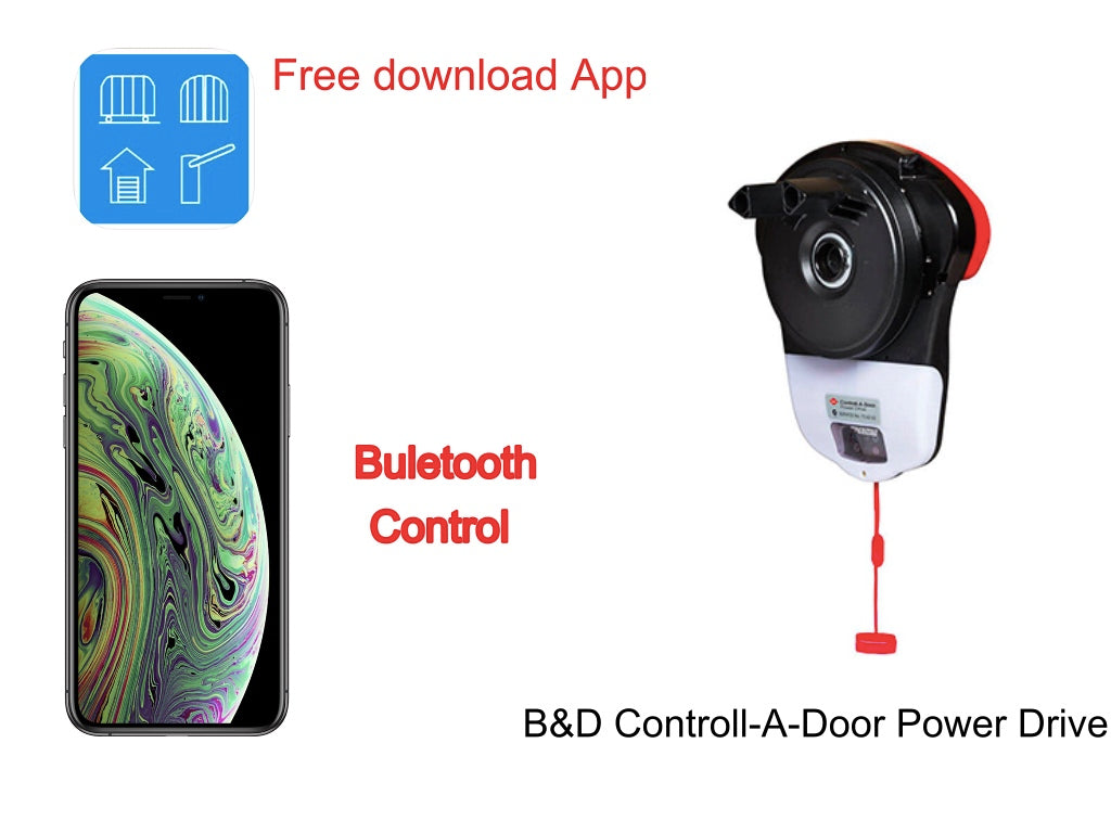 B D Controll A Door Power Drive Iphone Control Bluetooth Receiver Sunshine Garage And Gate