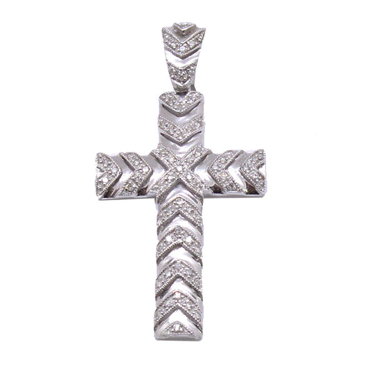 Thick Cross with Diamonds