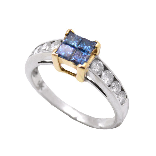 Blue Diamond Journey Illusion Ring