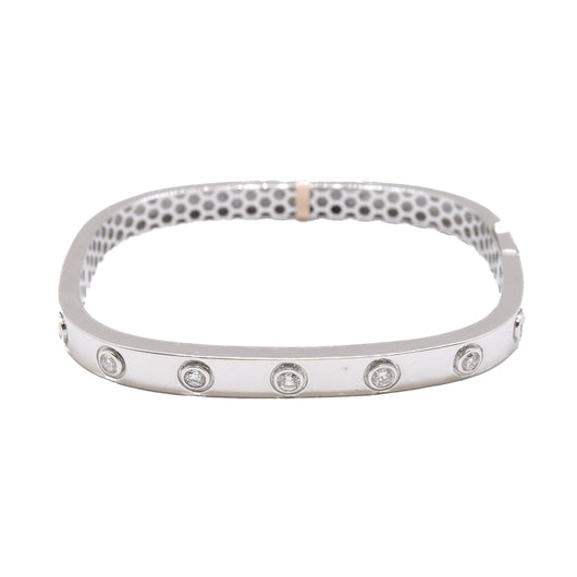 Squared Diamond Bangle