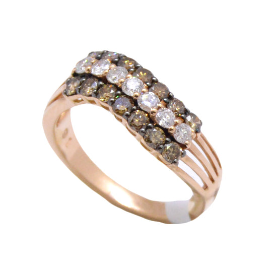 Wave brown Diamond Ring
