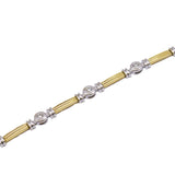Designer Two-Tone Diamond Bracelet
