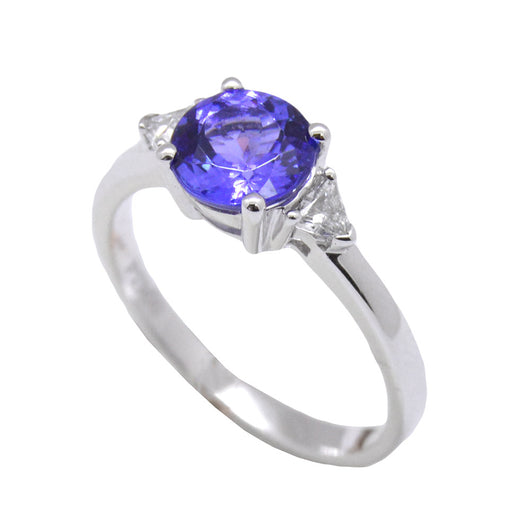 Round Cut Tanzanite Ring