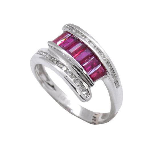 Tension Set Ruby Ring