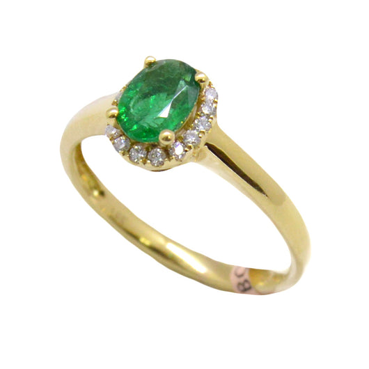 Oval Emerald Ring