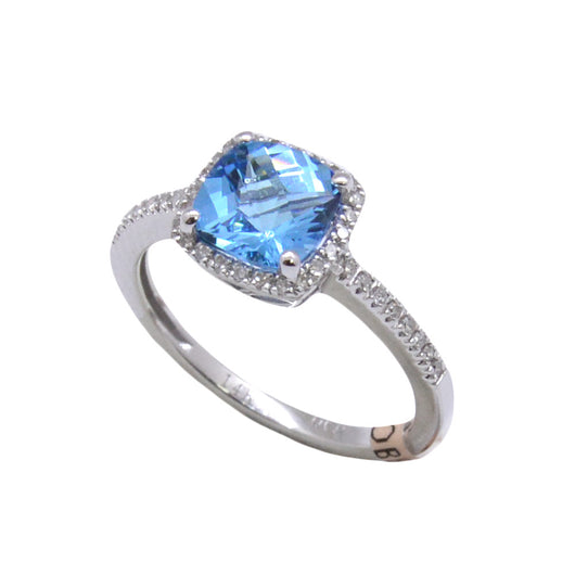 Cushion Cut Blue Topaz