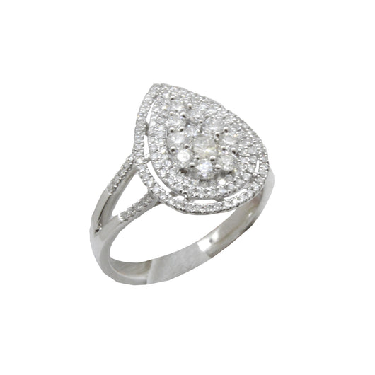 Pear Shape Cluster Diamond Ring