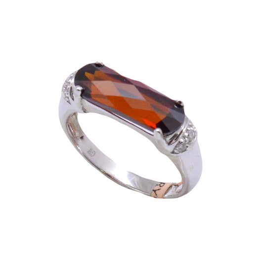 Elongated Garnet Ring