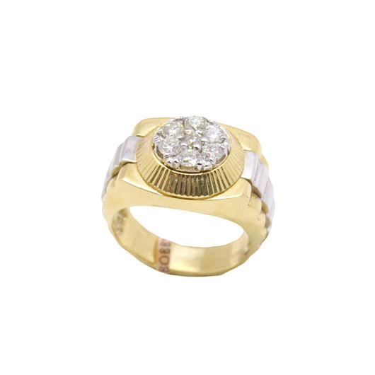 Mens Circle Diamond Ring