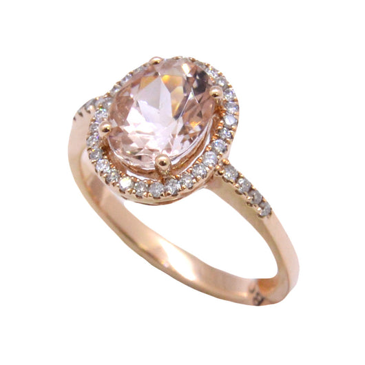 Oval Cut Morganite Ring