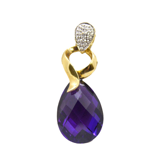 Amethyst Tear Drop Pendant
