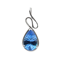 Blue Topaz Tear Drop Pendant