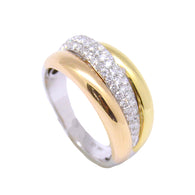 3 Row Tri-Tone with Diamonds