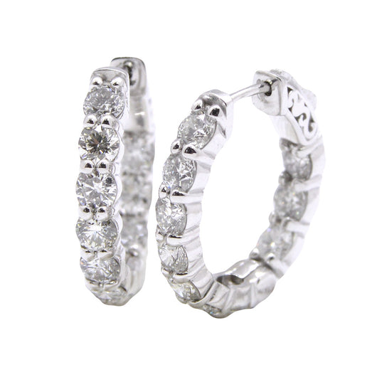 4ct Diamonds - Small size Oval Hoops