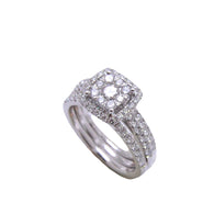3 Band Circle Illusion Diamond Ring