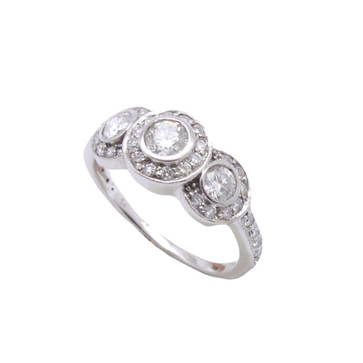 3 Stone Bezel Diamond Ring