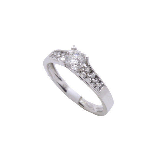 Arched Diamond Ring