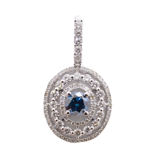 Circle of Life Blue Diamond Pendant