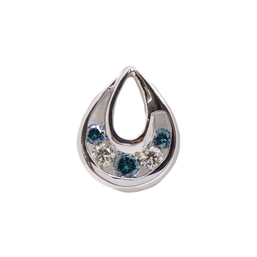 Tear Drop Blue Diamond Pendant