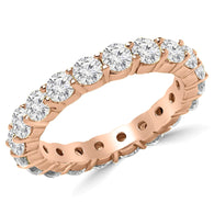 Rose Gold Eternity - Round Diamonds