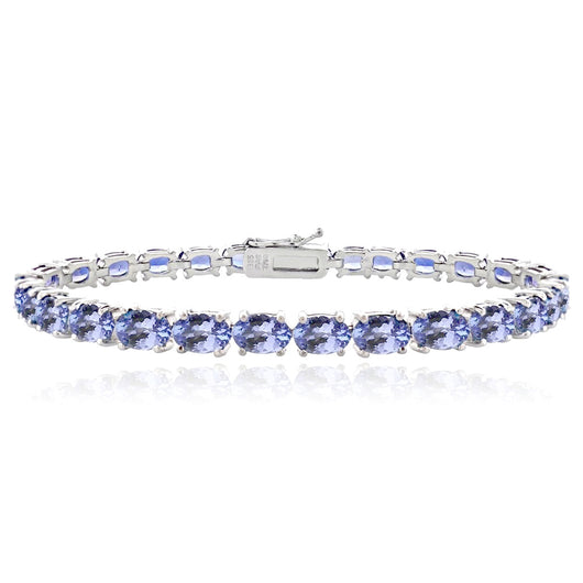 Tanzanite Tennis Bracelet - Oval