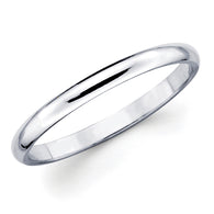 White Gold Wedding Band - 3mm