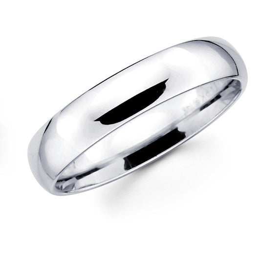 White Gold Wedding Band - 6mm