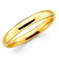 Gold Wedding Band - 4mm