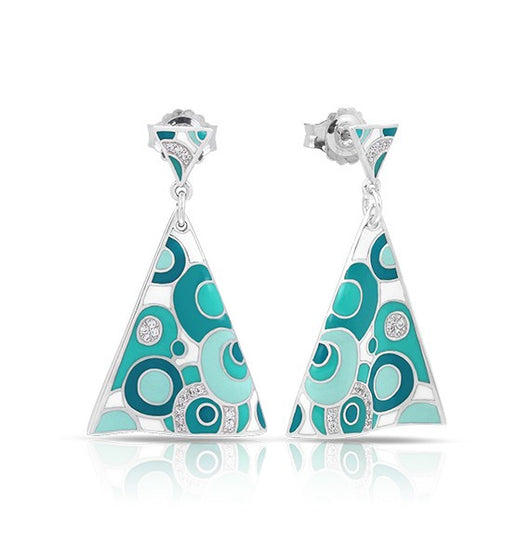 GROOVY WHITE & AQUA EARRINGS