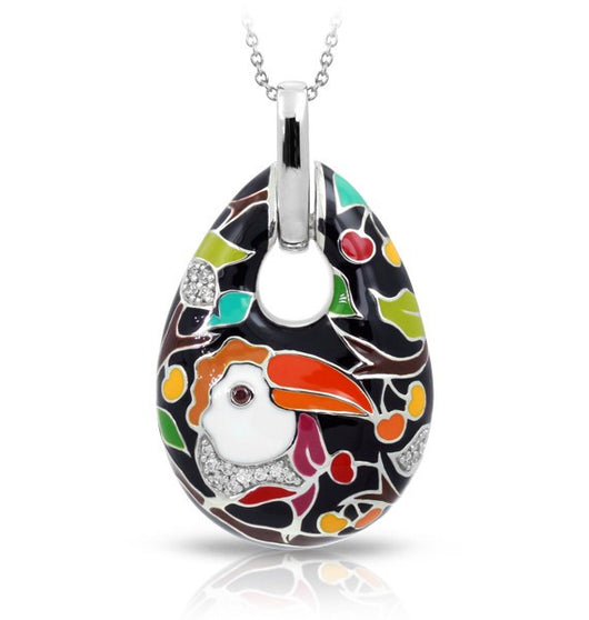LOVE TOUCAN BLACK PENDANT