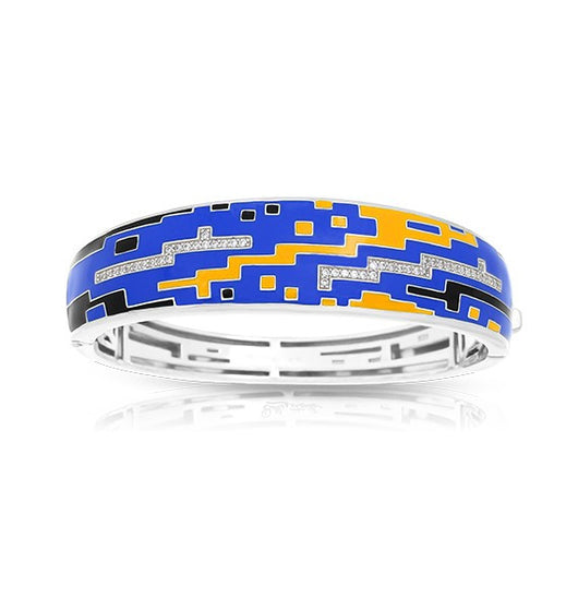 PIXEL BLUE & YELLOW BANGLE