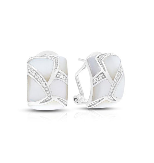 SIRENA WHITE MOTHER-OF-PEARL EARRINGS
