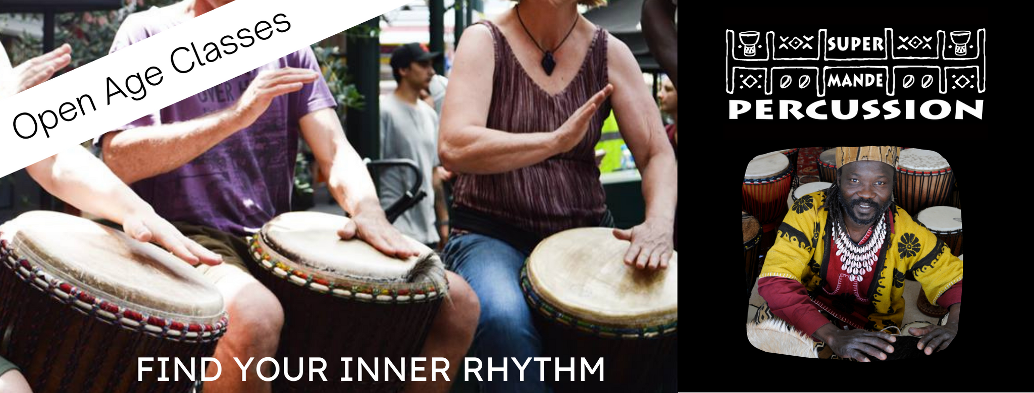 Open age classes in African Drumming banner image