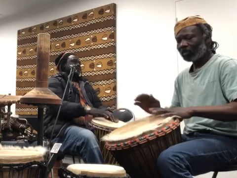 African drum masters jamming in Melbourne