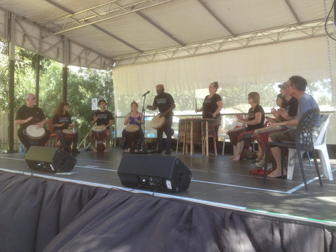 African Drumming Academy performing at Clayton Festival