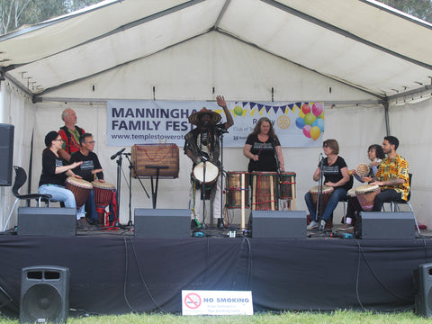 African Drumming Academy performing at Manningham Family Festival