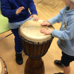 African drumming therapy for special development schools